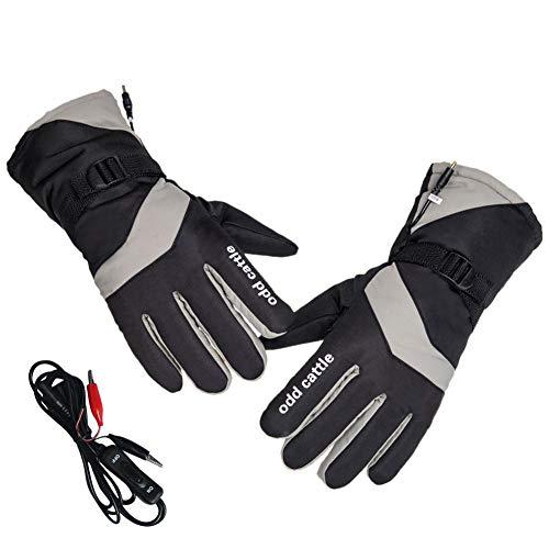 VERLOCO Beheizte Handschuhe Elektrische, Wiederaufladbare Warme Handschuhe Für Elektroauto Motorrad Wandern Skitouren, Wasserdicht Männer Und Frauen Handschuhe
