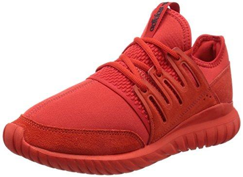 adidas Herren Tubular Radial Leichtathletik-Schuh, Rosso Red Cblack, 45 1/3 EU