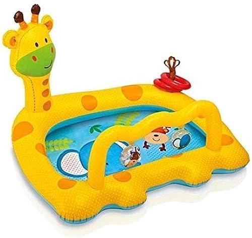 FJIE Aufblasbarer Swimmingpool, Aufblasbare Giraffenwanne, Saubere Aufblasbare Babywanne, Faltbarer Duschpool