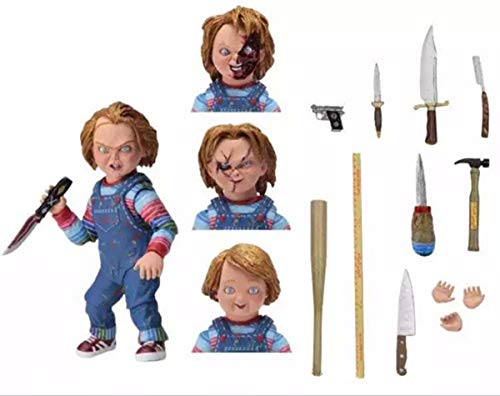 GD-Clothes Child's Play Action Figures-7''Scale Action Figure Child's Play Model for Kids-Ultimate Chucky PVC Toys