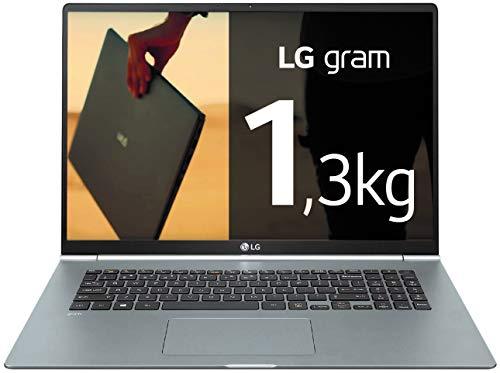 "LG Gram 17Z990-V - Ordenador portátil ultraligero de 43.18 cm (17"") WQXGA IPS (1.3 kg, autonomía 19.5h, Intel i7 8ª gen., 8 GB RAM, 512 GB SSD, Windows 10 Home) Plata - Teclado Español"