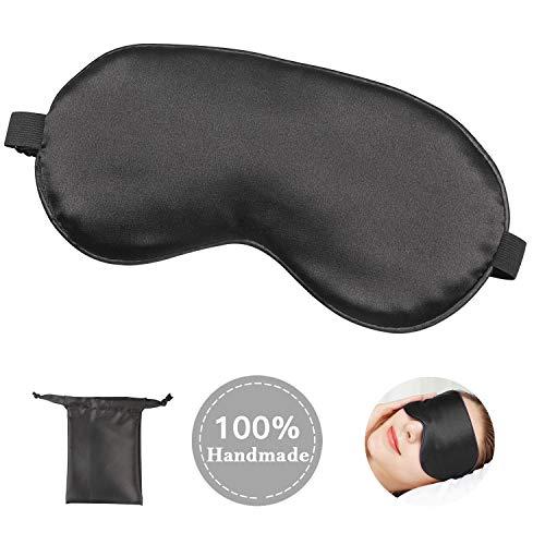 アイマスク Carlcoo シルク質感 安眠グッズ 遮光 昼寝 疲労回復に最適 目の疲れ 緩和効果 圧迫感なし 長さ...