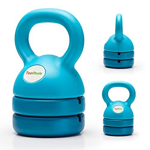 TopMade Kettlebell, Adjustable Kettlebell Weights Set Cast Iron Exercise Fitness Kettle Ball Grip 5, 8, 9, 12lb Free Weight Men Women Kettlebells for...