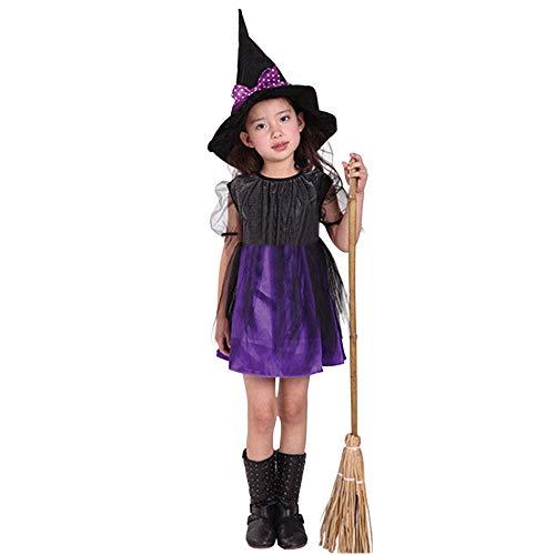 Riou Vestido de Halloween de Las nias Infantiles Calabaza Nios pequeos Bebs Nias Ropa de Halloween Disfraz Vestido Vestidos de Fiesta + Traje de Sombrero