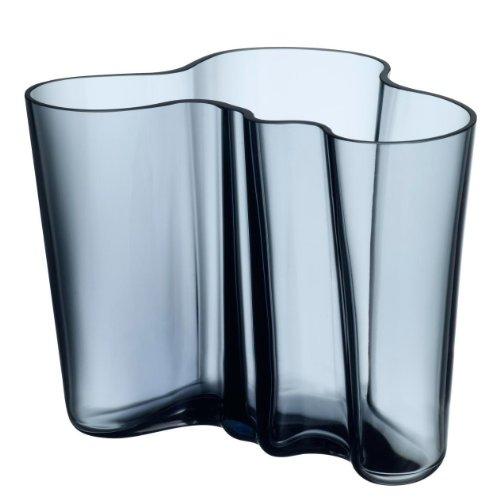 Iittala Alvar Aalto Collection - Vase/Blumenvase - Glas - Regenblau - Höhe 16 cm