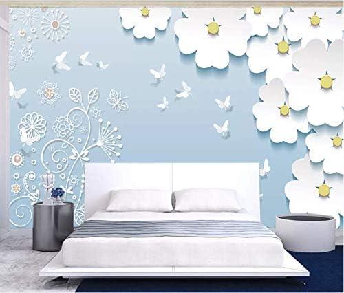 Albuquerque Mall 3D Boston Mall White Flowers 839 Wall Paper Self Print Deco Decal Mural