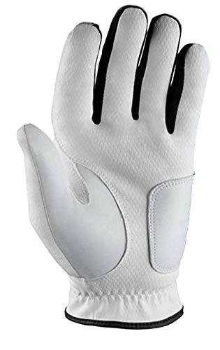 Wilson Grip Plus, Guanto da Golf, MLH Uomo, Bianco, M