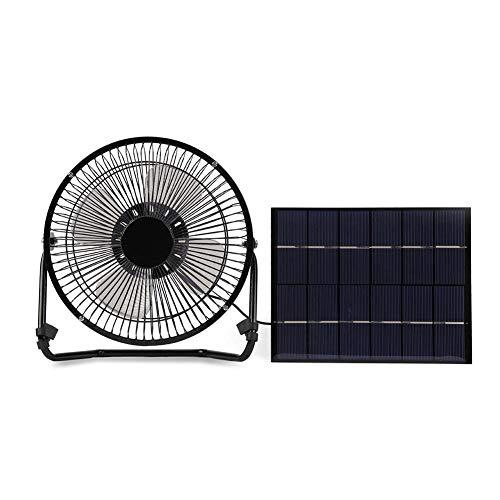 Dekaim Ventilador USB, Ventilador de Escritorio portátil Alimentado por Panel Solar Recargable Solomi Mini USB para el hogar y el Exterior