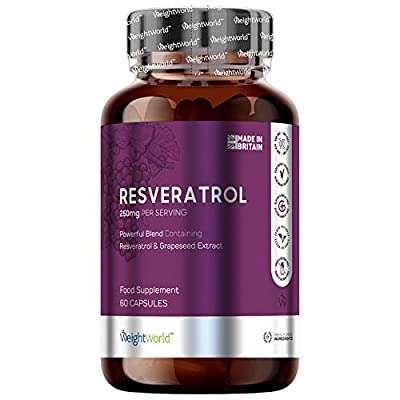 Resveratrol with Red Wine Extract - Powerful 500mg Strength Superfood Supplement - Natural Metabolism Booster & Fat Burner