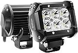 Nilight Focos LED,2pcs 18W 1260Lm Spot Combo Bar LED Faros de Trabajo LED 12V-24V, Luz antiniebla para Tractores,Camiones Todo Terreno, Pickup, ATV, SUV, Barco, Off-Road