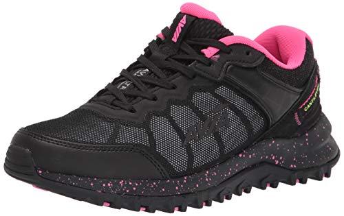 Avia Damen Avi-Ultra Trailrunning-Schuhe, Schwarz/Legierung/Pink Glo, 40 EU