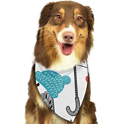 Vogels Met Paraplu's En Paraplu's In Winter Gepersonaliseerde Hond Kattenhalsdoek Set Geschikt voor Kleine Tot Grote Hond Katten