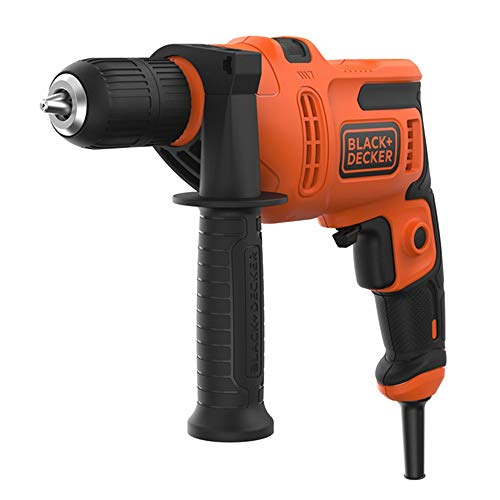 BLACK+DECKER 500 W Hammer Drill Power Tool with Side Handle , BEH200-GB