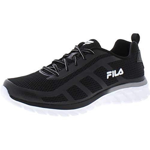 Fila Men's Memory Diskize 2 Shoes Black/White/Silver 9.5