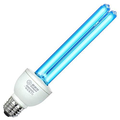 Lámpara de cuarzo Coospider 185nm UVC con ozono 220v 25w Luz compacta E27 / E26 enchufe de tornillo adecuado para restaurante familiar Hotel