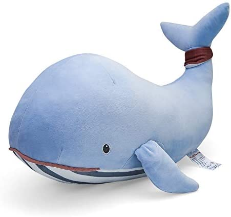 Niuniu Daddy Stuffed Animal Whale Plush Toy Pillow for Kids 23In Kawaii Soft Cuddly Stuffed product image