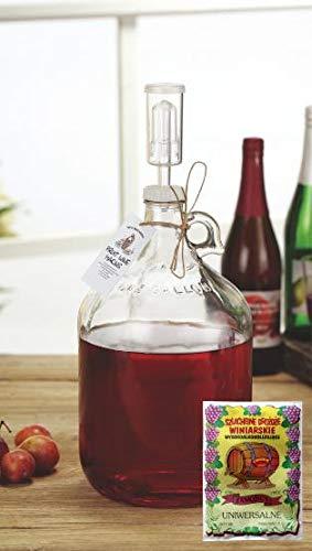 AGROHIT Starterset Wein 3,85L Wein selbermachen Weinballon