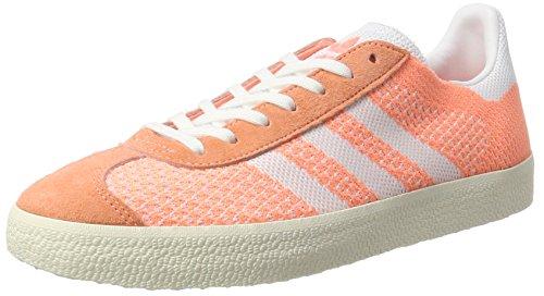 adidas Gazelle Primeknit, Zapatillas para Mujer, Amarillo (Sun Glow/Footwear White/Chalk White), 39 1/3 EU