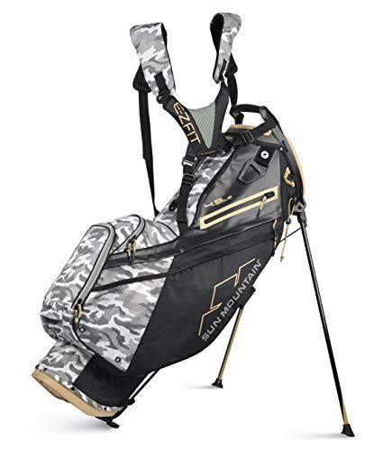 Sun Mountain 2021 Men's 4.5LS 14-Way Golf Stand Bag (Black-Gray-CAMO)
