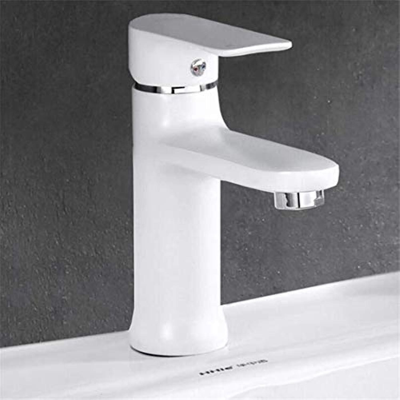 Wasserhahn Küche Bad Garten Waschtisch-Mischbatterie Bad Wasserhahn Bemalt Messing Einhand Einloch Ctzl1349
