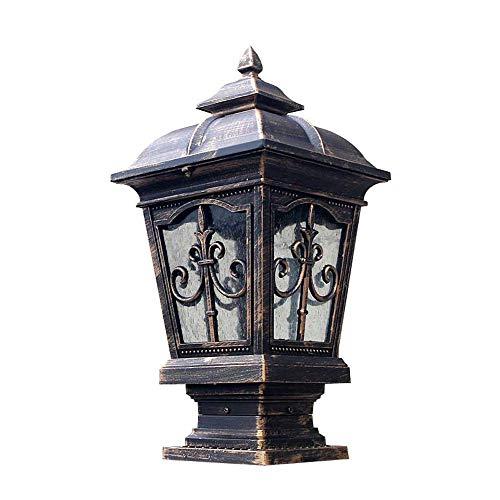 Traditionele decoratieverlichting voor gazon, lantaarn voor hek, patio, open lucht, lantaarn voor tuin, staande lamp E27