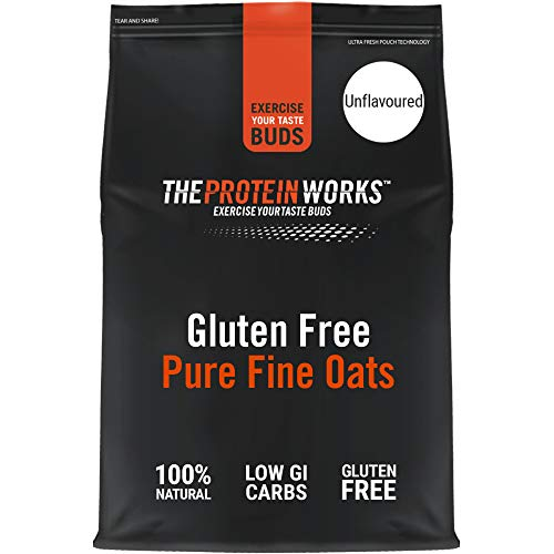 THE PROTEIN WORKS Gluten Free Pure Fine Instant Oats | 100% Pure & Natural Oats | Slow-Release Energy | Ultra Fine | 2 Kg
