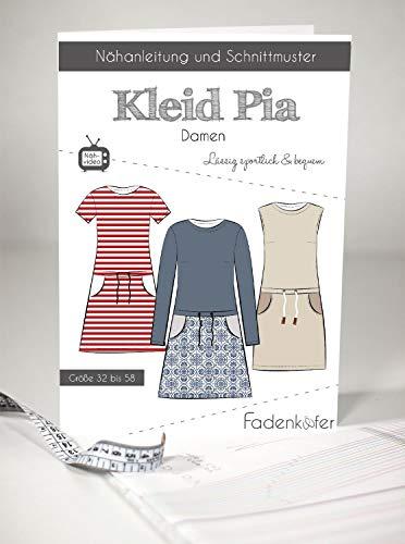 Schnittmuster Fadenkäfer Kleid Pia - Damen in den Größen 32 bis 58 Papierschnittmuster