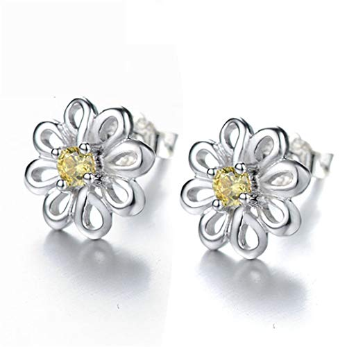 HBWHY Pendientes de flor para mujer, pendientes de tuerca, elegantes pendientes de gancho para mujeres y niñas, accesorios de joyería regalos
