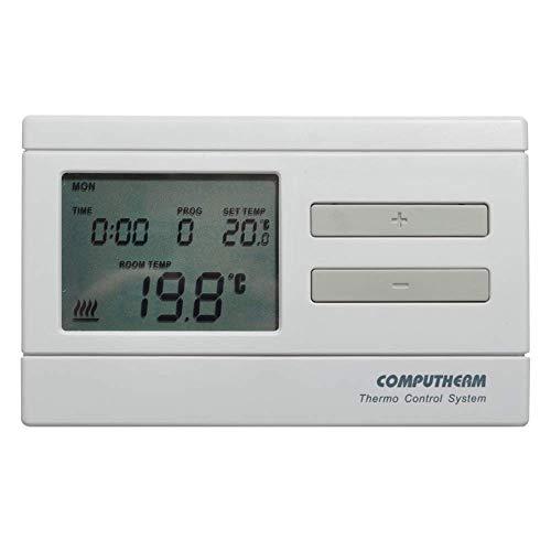 COMPUTHERM Q7 programmierbarer, digitaler Thermostat, Wand-Thermostat für Heizung, Klimaanlagen & Fußbodenheizung, Raum-Temperaturregler & -messer, mit 6 Programmen pro Tag