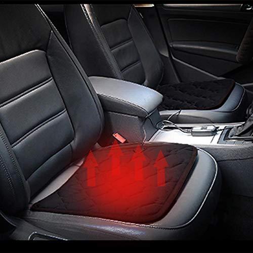 Elektrisch verwarmingskussen van koolstofvezel voor de auto, duurzaam, 30 seconden, universeel verwarmingskussen voor autostoel, bureaustoel, voor Relax zwart.