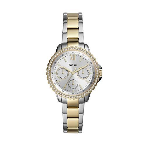 Fossil Damen Analog Quarz Uhr mit Edelstahl Armband ES4784