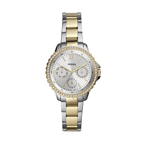 Fossil Women's Izzy Quartz Stainless Multifunction Watch, Color: Silver/Gold (Model: ES4784)