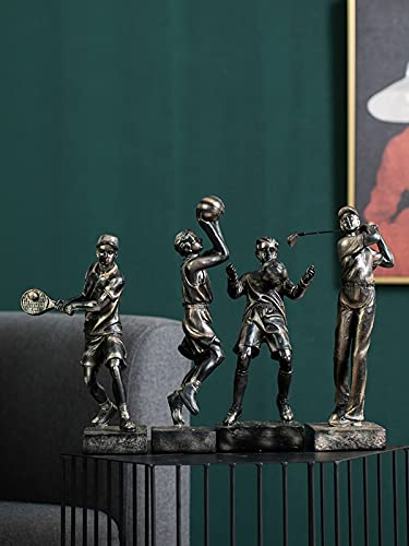 XinQing Escultura Adornos de Baloncesto Moderno Creativo Golf Deportes Personajes Oficina Sala de Estar TV Mueble Decoraciones para el hogar