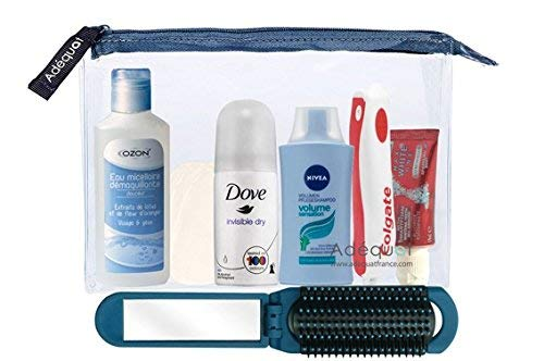 Trousse de toilette Avion Femme // Travel Kit // Trousse de voyage Avion // Idéal valise cabine // Conforme normes aéroportuaires
