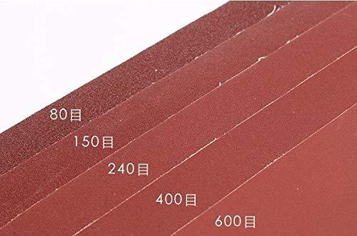 jidan Metal Sanding and Automotive Polishing 5 Paper per lot Soft Cloth Sandpaper Ultrafine Sanding Paper Water/Dry Stone/Knife/Leather/Wood polishing 80-600 Grit