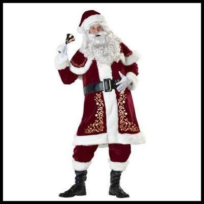 Adornos de bolas de Navidad M-6XL, disfraz de Papá Noel, cosplay, ropa de Papá Noel, disfraz de Navidad, 7 unidades por lote, traje para adultos (color: hombre, talla: M)