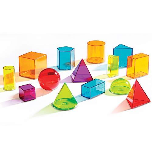 Learning Resources LER4331 - Formas geométricas de plástico Transparentes