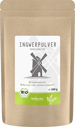 Bio Ingwerpulver / Ingwer gemahlen 500g in ROHKOSTQUALITÄT von bioKontor | 100% BIO - ohne Zusatzstoffe