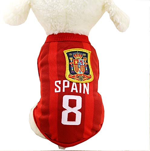 Lovelegis Disfraz de fanático - Equipo de fútbol - microbist - ultrà - españa - Perro - s - Idea de Regalo para cumpleaños