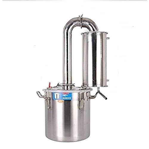 30 litros destilador de agua acero aceites esenciales alambique destilador de columna...