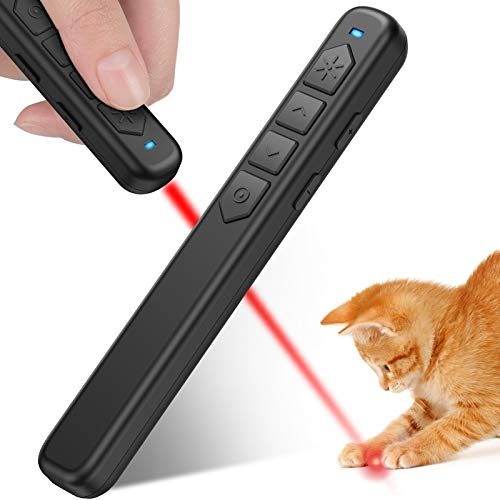 BEBONCOOL Pointer for Cats, Cat Pointer with Presentation Clicker Features, Powerpoint Clicker for Powerpoint Presentations, RF 2.4 GHz Presentation Remote Slide Advance for Cat Red