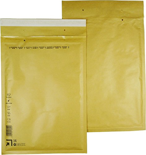 Global Pack 25 braune Luftpolsterumschläge Luftpolstertaschen 7 G Bild