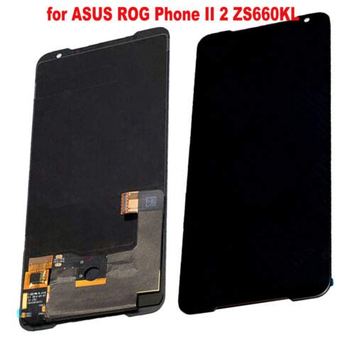 "for ASUS ROG Phone Ⅱ ZS660KL Phone 2 Phone2 i001DB 6.59"" LCD Display Digitizer Touch Screen Assembly Black Replacement Part"