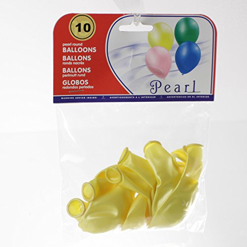 Feerie Christmas 10 Ballons gonflables Nacrés - Jaune