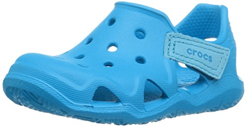 crocs Unisex-Kinder Swiftwater Wave K Clogs, Blau (Ocean 456b), 32/33 EU