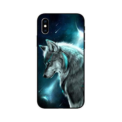 FancyCase Compatible with iPhone XR-New Cool Animal Style Soft TPU Protective iPhone XR Case by Fancy Case (Wolf Style)