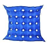 Cojín de Aire en Silla de Ruedas Médico colchón Inflable Asiento antiescaras prevenir decúbito Pad Chair por Mucho Tiempo Sentado,Azul