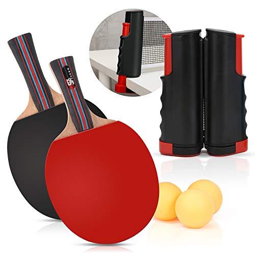 Buy Nobranded Ping Pong Paddles and Balls Set- 2 Table Tennis Paddles and 3 Balls - Retractable Net ...