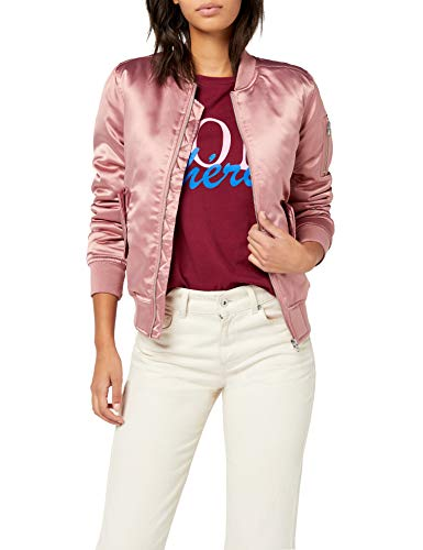 Urban Classics Ladies Satin Bomber Jacket, Giacca Donna, Rosa (oldrose 738), XS