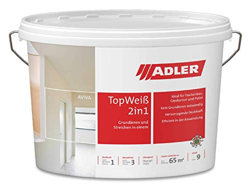 AVIVA Top-Weiß 2in1-9 L - Wandfarbe und Grundierung